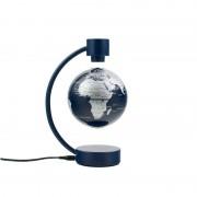 Stellanova floating globe, metallic silver and blue 10cm
