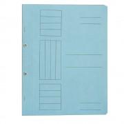 Dosar incopciat 1/1 cu capse, carton, 230 gr/mp, albastru