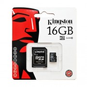 Card de memorie Kingston microSDHC 16GB clasa 10 + adaptor SD