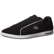 Lacoste Graduate Zapatillas para Hombre, Negro/Blanco, 7.5 US