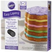 Wilton Scalloped Cake Pan Easy Layers -15cm- Set/5