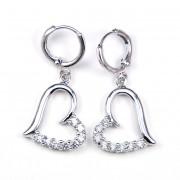 Meadow Swarovski kristályos fülbevaló - Szív alakú