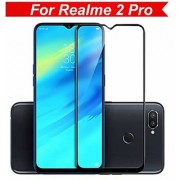 6D Edge to Edge Full Glue Tempered Glass Screen Protector for Oppo Realme 2 Pro (Black)