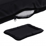 [en.casa]® Fekhely kutyaágy cicaágy L 80 x 60 cm cipzárral mosható fekete