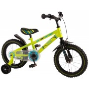Bicicleta baieti 14 inch Volare Bike Electric Green cu roti ajutatoare Verde Neon