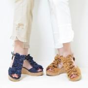 &LOVE フリルリボンのTストラップウェッジサンダル【QVC】40代・50代レディースファッション
