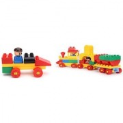 Virgo Toys Play Blocks Car Set and Junior train set (Combo)