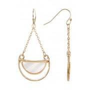 14th Union Half Circle Stone Trapeze Earrings WHITE-GOLD