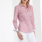 Anne Weyburn Camisa às riscas tecido-tingido, popelina stretchriscas rosa/branco- 38
