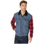 Levis Mens Flannel Hybrid Trucker Timber