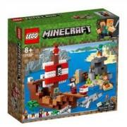 Конструктор Лего Майнкрафт - Приключение с пиратски кораб - LEGO Minecraft 21152