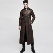 Punk Rave Rifleman Buckled High Collar Long Coat Coffee Y-809MCO