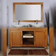 Saniteck Meuble salle de bain teck 140 naturel