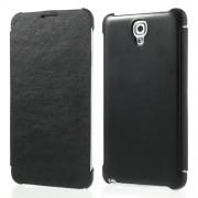 Кожен калъф за Samsung Galaxy Note 3 Neo - черен