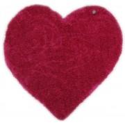 Covor Shaggy Soft, Forma Inima, Roz, 100x100