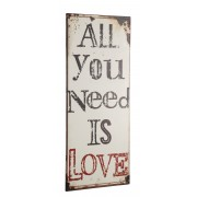 """Ceduľa """"ALL YOU NEED IS LOVE"""""""