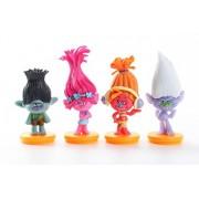 Promotion Trolls Movie 4Pcs/Set 7cm trolls Figure Collectible Doll Poppy Branch Biggie PVC Troll Action Figures Doll Kid Toy