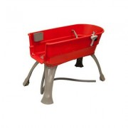 Booster Bath Elevated Dog Bathing and Grooming Center, Large, Red