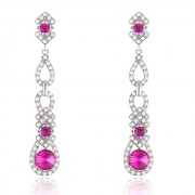 Cercei Borealy Chandelier Pink White