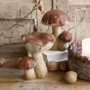 LOBERON Lot de 2 champignons décoratifs Beenie