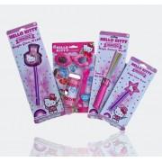 Hello Kitty 4 Piece Childrens Toy Gift Set includes 1 - 3D Bubble Set, Magic Swizzle Wand, 1 Magic Glow Star Wand & 1 Large Magic Kitty w/Hat Glow Wand