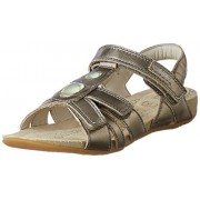 Clarks Girl's Brown Leather Fashion Sandals - 3.5 kids UK/India (19 EU)