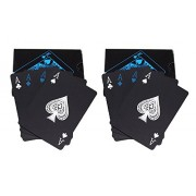 Care CASE- Set of 2- Black Unique Good Quality Waterproof Colorful Playing Cards Plastic Deck Poker Playing Card