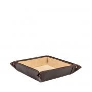 Leder Schreibtischorganizer in Dunkelbraun - Schreibtisch-Butler, Ablagebox