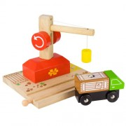 Bigjigs Rail BJT127 Crane, Rail and Lorry