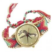 1: Toogoo Female Giraffe Pattern Weave Bracelet Watch 9