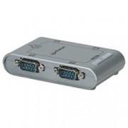 Manhattan Convertitore da USB a 4 porte seriali