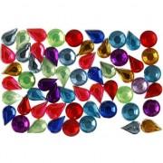 Merkloos Gekleurde plak diamantjes 5mm 15 gr