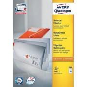 Avery 3668 etichetta per stampante Bianco Etichetta per stampante autoadesiva