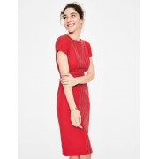 Boden Robe Kitty texturée DRD Femme Boden, Red - 40 N