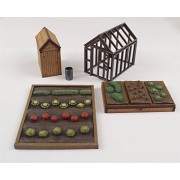 Allotment Garden Set OO/HO Gauge by WWS - Railway Model Modelling Shed Vegetable Patch