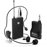 FIFINE Wireless Microphone System, Wireless Microphone set with Headset and Lavalier Lapel Mics, Beltpack Transmitter and Receiver,Ideal for Teaching, Preaching and Public Speaking Applications-K037B