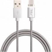 Cablu de date Tellur USB - Type-C conector magnetic 1m Argintiu