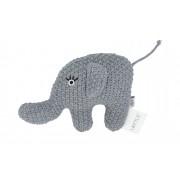 Höffner Kleine Rassel Little Elefant ¦ Füllung aus 100% Polyester, Bezug aus
