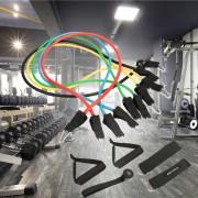 Ancheer 11pcs Resistencia Set Fitness Ejercicio Banda Con Tobillera Anclaje Puerta Bolsa De Transporte