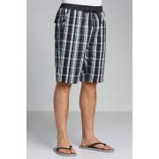 Mens Southcape Rib Waist Short - Black Check Trousers