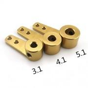 HATCHMATIC 4pcs / Lot Metal de dirección de un Solo Brazo de 3,1 mm 4,1 mm 5,1 mm aleación de Aluminio de Servo Control biela Enlace para RC Barco de Piezas de Repuesto: 5.1mm