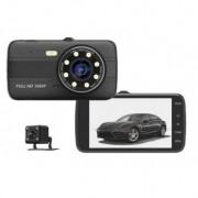 CAMERA VIDEO AUTO NOVATEK T800 DUBLA 8 LED URI INFRAROSU FULL HD