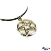 Pentagram az 5 elemmel nyaklánc