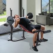 HomCom Banco de Musculação com Encosto Ajustável Carga de 150kg Aço - 105x150x112cm