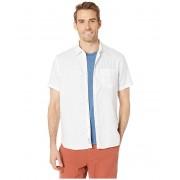 Lucky Brand Short Sleeve Linen Shirt Bright White