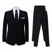 vidaXL Pánský dvoudílný business oblek černý + kalhoty navíc, vel. 46