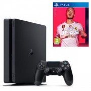 Конзола PlayStation 4 Slim 500GB Black, Sony PS4+Игра FIFA 20 за Playstation 4 - PS4