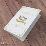 Invitaţie de nuntă retro cu deschidere clasică Victoria