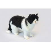 Hansa Black/White Cat Standing Plush Soft Toy by . 46Cm. 6485