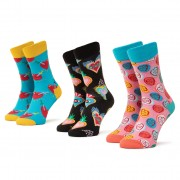 Set de 3 perechi de șosete lungi de damă HAPPY SOCKS - XLOV08-0100 Colorat